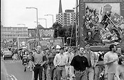 North Selby, Ellington, Gascoigne Wood Branch banners. 1993 Yorkshire Miner's Gala. Wakefield.