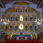 Inside at the alter of the Basilica del Santo Nino in Cebu City