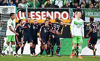 Fotball<br /> Tyskland<br /> 27.02.2016<br /> Foto: Witters/Digitalsport<br /> NORWAY ONLY<br /> <br /> 0:2 Jubel v.l. Juan Bernat, Torschuetze Robert Lewandowski, Franck Ribery, Philipp Lahm, Thomas Mueller, Joshua Kimmich, Kingsley Coman, David Alaba (Bayern)<br /> <br /> Wolfsburg, 27.02.2016, Fussball Bundesliga, VfL Wolfsburg - FC Bayern München