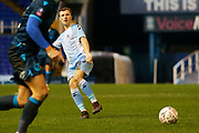 Jamie Allen plays a pass during the The FA Cup third round replay match between Coventry City and Bristol Rovers at the Trillion Trophy Stadium, Birmingham, England on 14 January 2020.