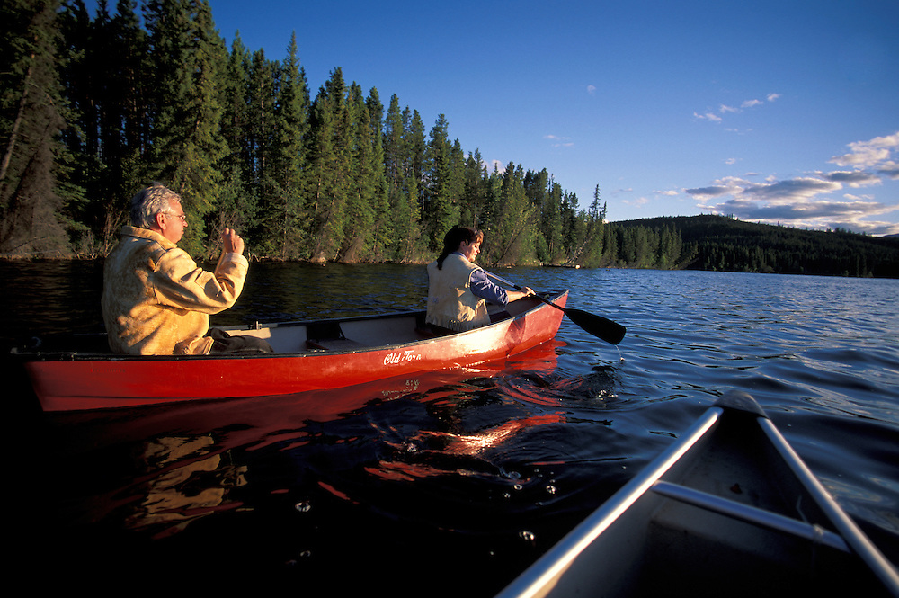Canoe on Clearwater Lake, Chilcotin Country,British Columbia,Canada