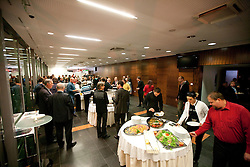 Catering during the Slovenia's Athlete of the year award ceremony by Slovenian Athletics Federation AZS, on November 12, 2008 in Hotel Mons, Ljubljana, Slovenia.(Photo By Vid Ponikvar / Sportida.com) , on November 12, 2010.