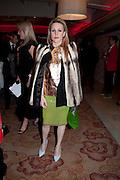 JOANNE HYNES, London Lifestyle Awards. Riverbank Park Plaza. London.6 October 2011. <br /> <br />  , -DO NOT ARCHIVE-© Copyright Photograph by Dafydd Jones. 248 Clapham Rd. London SW9 0PZ. Tel 0207 820 0771. www.dafjones.com.