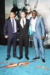 @ London News PIctures. Charlie Hunnam; Robert Kazinsky; Idris Elba at  Pacific Rim European Film Premiere, BFI IMAX Waterloo, London UK, 04 July 2013. Photo by Richard Goldschmidt/LNP