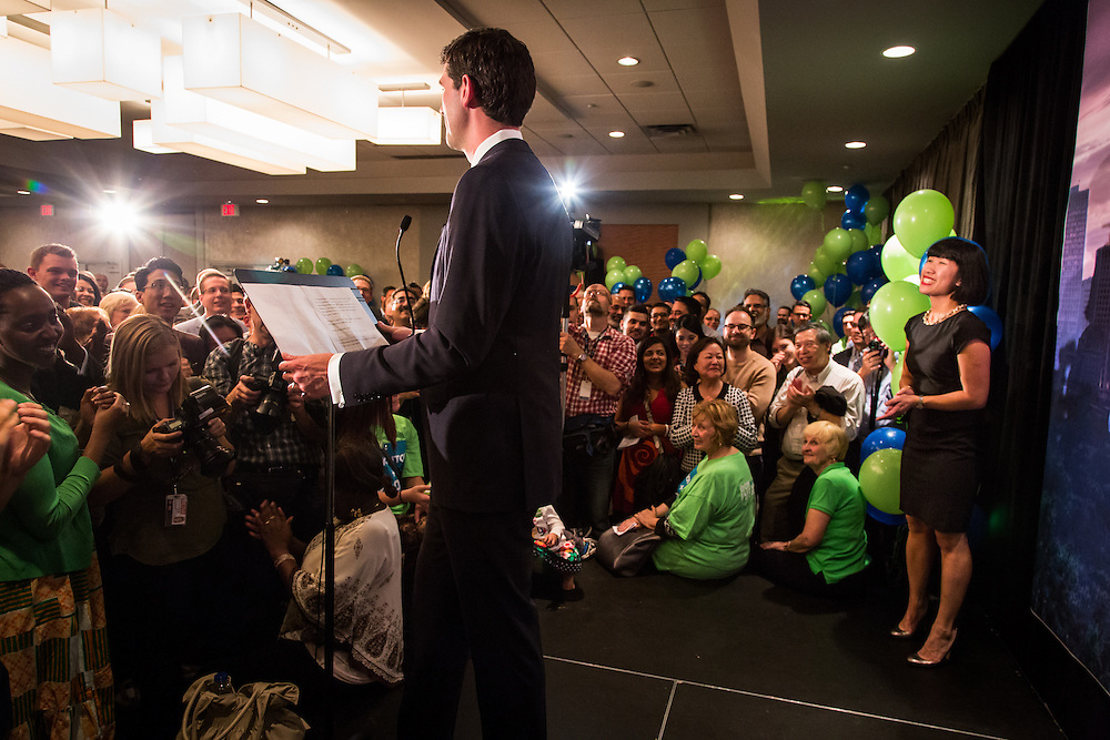 Canada, Edmonton. Election Night Party. Oct/21/2013. Tom Young © 2013