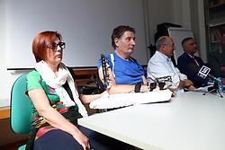 DA SX CINZIA RAVAGLIA MARCO RAVAGLIA NINO BASAGLIA ALBERTO BOVA <br /> CONFERENZA STAMPA MARCO RAVAGLIA