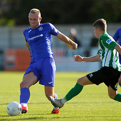 TELFORD COPYRIGHT MIKE SHERIDAN Jon Royle of Telfordmduring the National League North fixture between Blyth Spartans and AFC Telford United at Croft Park on Saturday, September 28, 2019<br /> <br /> Picture credit: Mike Sheridan<br /> <br /> MS201920-023