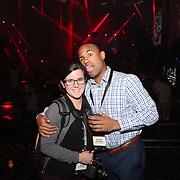 November 13, 2014, Las Vegas, Nevada:<br /> Stephen Villatoro and Lauren Foley work a party at the Light nightclub at the Mandalay Bay hotel in Las Vegas, Nevada Sunday, November 9, 2014.<br /> (Photo by Billie Weiss/TEAMS)
