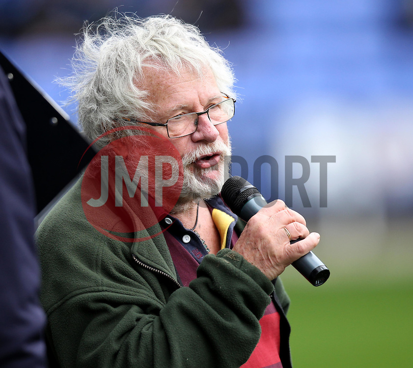 Comedian and TV Presenter Bill Odie addresses the Reading fans - Photo mandatory by-line: Robbie Stephenson/JMP - Mobile: 07966 386802 - 04/04/2015 - SPORT - Football - Reading - Madejski Stadium - Reading v Cardiff City - Sky Bet Championship