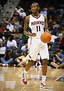 18 October 2010: Atlanta's Jamal Crawford in Atlanta Hawks 102-73 preseason loss to the Orlando Magic at Philips Arena in Atlanta, GA.