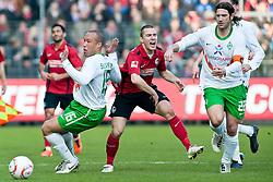 06.03.2011, Badenova-Stadion, Freiburg, GER, 1. FBL, SC Freiburg vs Werder Bremen, im Bild vl. Mickael Silvestre (Bremen #16), Maximilian Nicu (Freiburg #10), Torsten Frings (Bremen #22), EXPA Pictures © 2011, PhotoCredit: EXPA/ nph/  Roth       ****** out of GER / SWE / CRO  / BEL ******