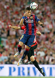 30.05.2015, Camp Nou, Barcelona, ESP, Copa del Rey, Athletic Club Bilbao vs FC Barcelona, Finale, im Bild Athletic de Bilbao's Mikel San Jose (b) and FC Barcelona's Neymar Santos Jr // during the final match of spanish king's cup between Athletic Club Bilbao and Barcelona FC at Camp Nou in Barcelona, Spain on 2015/05/30. EXPA Pictures &copy; 2015, PhotoCredit: EXPA/ Alterphotos/ Acero<br /> <br /> *****ATTENTION - OUT of ESP, SUI*****