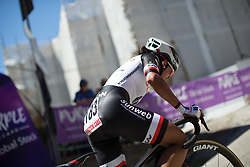 Coryn Rivera (USA) of Team Sunweb rides near the top of the final climb of Stage 5 of the Giro Rosa - a 12.7 km individual time trial, starting and finishing in Sant'Elpido A Mare on July 4, 2017, in Fermo, Italy. (Photo by Balint Hamvas/Velofocus.com)