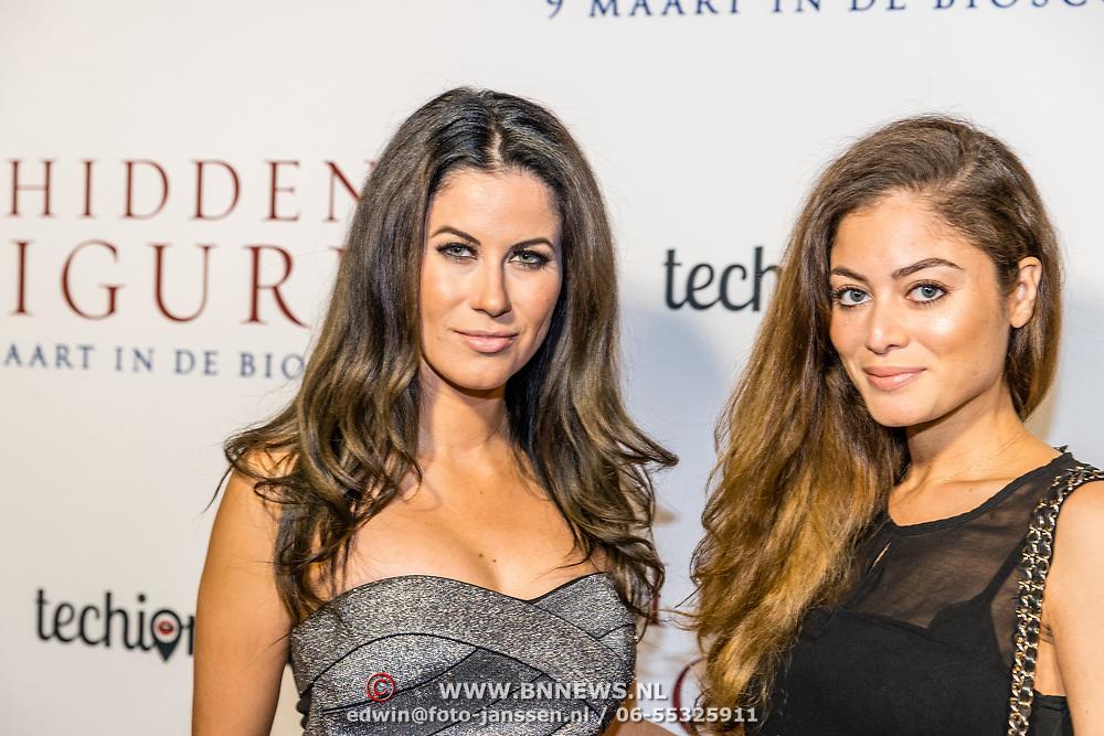 NLD/Amsterdam//20170307 - Premiere HIdden Figures, Melissa Sneekes en zusje