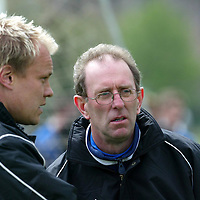 St Johnstone's new manager John Connolly pictured during training with Mixu Paatelainen.<br />see story by Gordon Bannerman Tel: 01738 553978 or 07729 865788<br />Picture by Graeme Hart.<br />Copyright Perthshire Picture Agency<br />Tel: 01738 623350  Mobile: 07990 594431