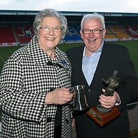 St Johnstone Player of the Year Awards...04.05.13<br /> StJFC Supporters Bus George Gordon Clubman of the Year went to Tommy Campbell presented by Gertie Gordon;<br /> Picture by Graeme Hart.<br /> Copyright Perthshire Picture Agency<br /> Tel: 01738 623350  Mobile: 07990 594431