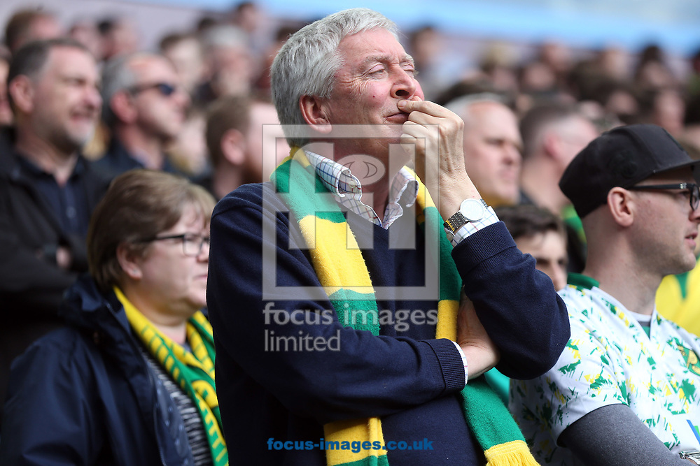 It was a tough watch for the traveling Norwich fans during the Sky Bet Championship match at Villa Park, Birmingham<br /> Picture by Paul Chesterton/Focus Images Ltd +44 7904 640267<br /> 01/04/2017