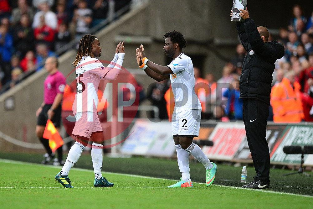 Wilfried Bony of Swansea City replaces Renato Sanches of Swansea City - Mandatory by-line: Alex James/JMP - 10/09/2017 - FOOTBALL - Liberty Stadium - Swansea, England - Swansea City v Newcastle United - Premier League