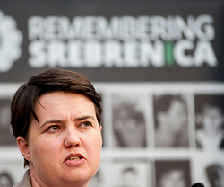 MSP Ruth Davidson spoke at an event remembering the massacre at Srebrenica during the Yugoslav war. <br /> <br /> © Dave Johnston/ EEm