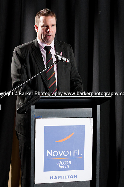 Northern Districts Cricket Awards, CEO David Cooper, Tainui Novotel Hotel, Friday 8 April 2011, Hamilton, New Zealand.  Photo: Stephen Barker/Barker Photography/PHOTOSPORT  ©Barker Photography www.barkerphotography.co.nz