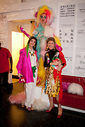 FATIMA MALIKI;  SOFIA FATEMI, The ICA's Psychedelica Gala Fundraising party. Institute of Contemporary Arts. The Mall. London. 29 March 2011. -DO NOT ARCHIVE-© Copyright Photograph by Dafydd Jones. 248 Clapham Rd. London SW9 0PZ. Tel 0207 820 0771. www.dafjones.com.