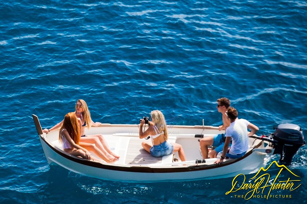 Photo shoot, boat, Cinque Terre, italy