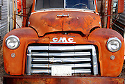 USA, Idaho, Owyhee County, On the Collet Farm near Grand View, Old GMC Truck