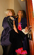 23.FEBRUARY.2007. LONDON<br /> <br /> A VERY DRUNK SARAH HARDING AND DRINKING PAL VICTORIA HERVEY BOTH STUMBLING OUT OF NEW CLUB AMIKA IN KENSINGTON AT 3.00AM AND GETTING INTO A CAB BEFORE ARRIVING BACK AT VICTORIA'S HOUSE IN CHELSEA.<br /> <br /> BYLINE: EDBIMAGEARCHIVE.CO.UK<br /> <br /> *THIS IMAGE IS STRICTLY FOR UK NEWSPAPERS AND MAGAZINES ONLY*<br /> *FOR WORLD WIDE SALES AND WEB USE PLEASE CONTACT EDBIMAGEARCHIVE - 0208 954 5968*