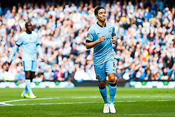 Samir Nasri of Manchester City looks frustrated after a missed shot - Photo mandatory by-line: Rogan Thomson/JMP - 07966 386802 - 30/08/2014 - SPORT - FOOTBALL - Manchester, England - Etihad Stadium - Manchester City v Stoke City - Barclays Premier League.
