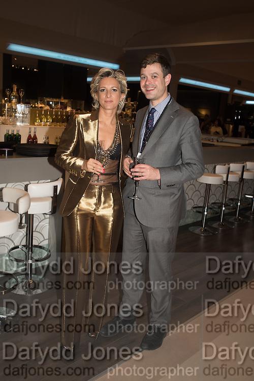LAURA BURZIO; TOM DAWNAY, The Neo Romantic Art Gala in aid of the NSPCC. Masterpiece. Chelsea. London.  30 June 2015