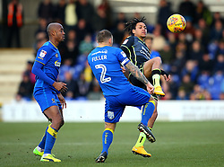 Kyle Bennett of Bristol Rovers takes on Barry Fuller of AFC Wimbledon - Mandatory by-line: Robbie Stephenson/JMP - 17/02/2018 - FOOTBALL - Cherry Red Records Stadium - Kingston upon Thames, England - AFC Wimbledon v Bristol Rovers - Sky Bet League One