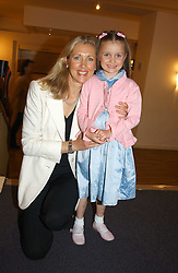 COUNTESS ALLESANDRO GUERRINI-MARALDI and her daughter LARISSA at a performance by the London Childrens Ballet of 'The Little Princess' at The Peacock Theatre, Portugal Street, London WC2 on 19th May 2005.<br />