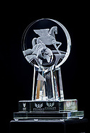 HALLANDALE BEACH, FL - JANUARY 27: The 2 Million Dollar Pegasus World Cup Invitational Trophy at Gulfstream Park Race Track on January 27, 2018 in Hallandale Beach, Florida. (Photo by Alex Evers/Eclipse Sportswire/Getty Images)