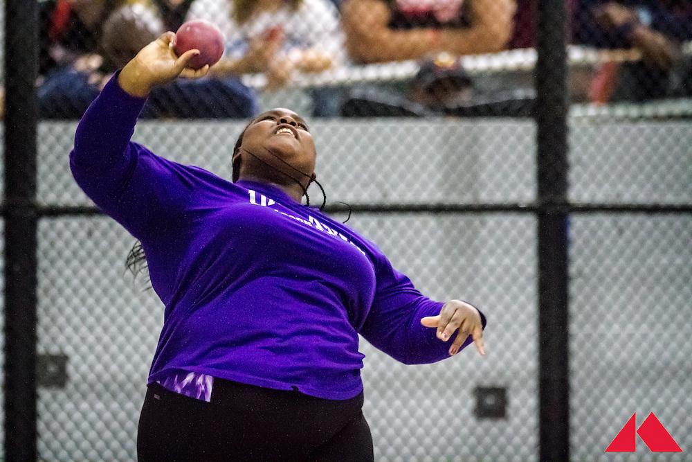 ECAC Indoor Champs, womens shot put, Johnson, Albany