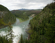 © 2008 Randy Vanderveen, all rights reserved.Monkman Provincial Park, near Tumbler Ridge, British Columbia .Kinuseo Falls tumble into the Murray River in Monkman Provincial Park. The falls are higher than Niagra Falls and are hidden away in the northeast BC provincial park.