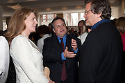 QUEEN NOOR OF JORDAN; TREVOR FITZGIBBON; DANNY GOLDBERG, Gala screening of COUNTDOWN TO ZERO, Bafta. Piccadilly. London. 21 June 2011. <br /> <br />  , -DO NOT ARCHIVE-© Copyright Photograph by Dafydd Jones. 248 Clapham Rd. London SW9 0PZ. Tel 0207 820 0771. www.dafjones.com.