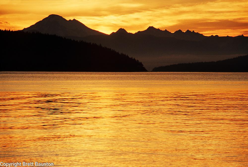Mt. Baker, San Juan Islands Sunrise from Cypress Island,
