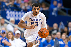 Kentucky guard Jamal Murray leads a fast break in the second half.<br /> <br /> The University of Kentucky hosted the University of Tennessee, Thursday, Feb. 18, 2016 at Rupp Arena in Lexington.