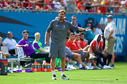 CHARLOTTE, USA - Sunday, July 22, 2018: Liverpool's manager Jürgen Klopp during a preseason International Champions Cup match between Borussia Dortmund and Liverpool FC at the  Bank of America Stadium. (Pic by David Rawcliffe/Propaganda)