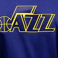 09 December 2015: Close view of Utah Jazz logo  during the Utah Jazz 106-85 victory over the New York Knicks, at the Vivint Smart Home Arena, Salt Lake City, Utah, USA.