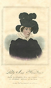 Lady Anne Hamilton (!776-1846) Lady-in-waiting to Queen Caroline, wife of George IV of England. Hand-coloured engraving,1820