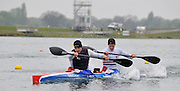 Eton, United Kingdom. Men's K2 Stern, Liam HEATH and Jonathan SCOFIELD., 2012 GB Canoeing Training, Dorney Lake. Wednesday  02/05/2012  [Mandatory Credit; Peter Spurrier/Intersport-images]