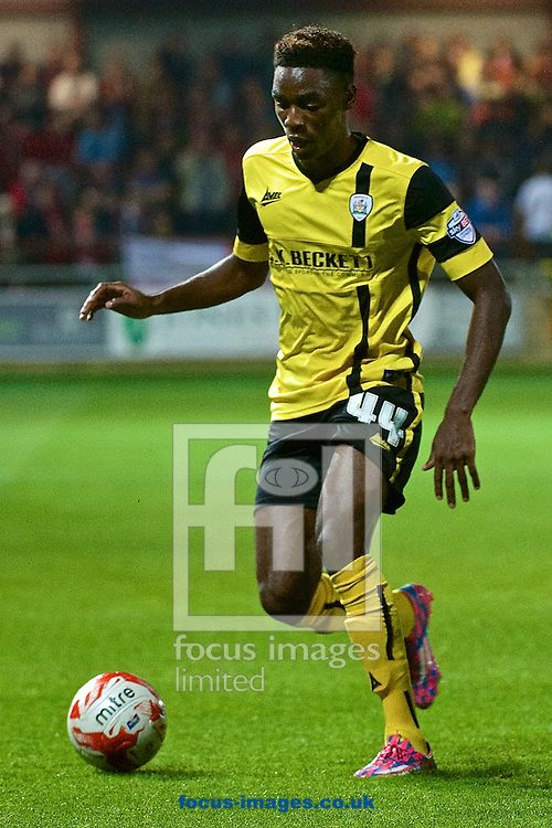 Devante Cole of Barnsley during the Sky Bet League 1 match at the Highbury Stadium, Fleetwood<br /> Picture by Ian Wadkins/Focus Images Ltd +44 7877 568959<br /> 17/09/2014