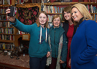 17/02/2016  Hannah and Deirdre Shalvey with Tainaiste Joan Burton and Senator Lorraine Higgins candidate for Galway East in The Hungry Bookworm in Loughrea.<br /> Photo:Andrew Downes, xposure.