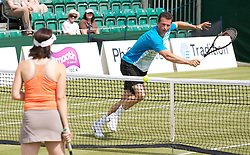 MANCHESTER, ENGLAND: Richard Krajicek (NED) on Day 3 of the Manchester Masters Tennis Tournament at the Northern Tennis Club. (Pic by David Tickle/Propaganda)