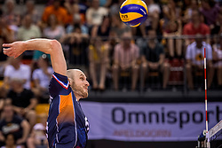 27-05-2017 NED: 2018 FIVB Volleyball World Championship qualification day 4, Apeldoorn<br /> Oostenrijk - Nederland / Jasper Diefenbach #6