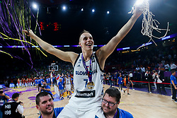 Klemen Prepelic of Slovenia celebrating  after winning during the Final basketball match between National Teams  Slovenia and Serbia at Day 18 of the FIBA EuroBasket 2017 when Slovenia became European Champions 2017, at Sinan Erdem Dome in Istanbul, Turkey on September 17, 2017. Photo by Vid Ponikvar / Sportida