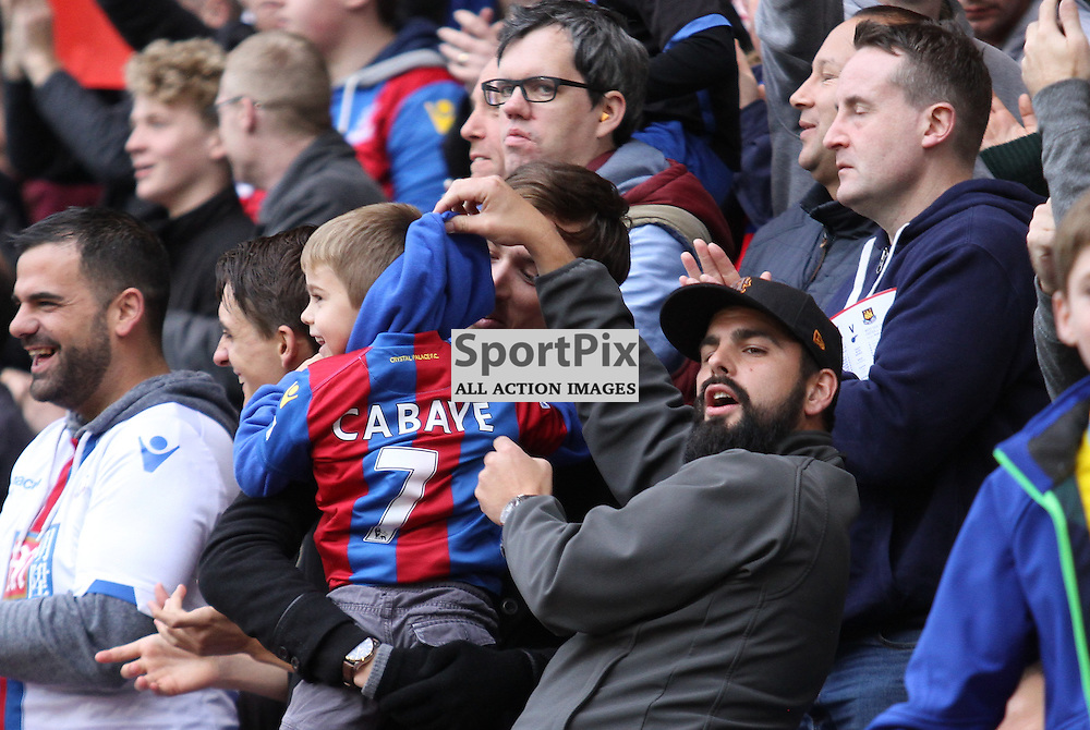 Palace fans show west ham fans who equalised against them
