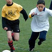 Schoolvoetbal 1998 op het terrein van SV Huizen