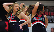 November 28, 2011; Moraga, CA, USA; Saint Mary's Gaels cheerleaders perform during the first half of the Shamrock Office Solutions Classic championship game against the Weber State Wildcats at McKeon Pavilion.